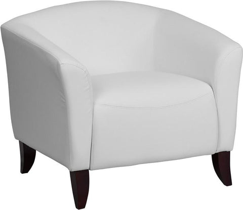Flash Furniture 111-1-WH-GG HERCULES Imperial Series White Leather Chair - Peazz Furniture