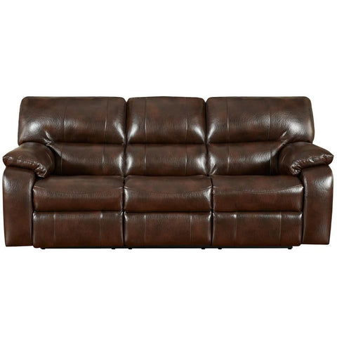 Flash Furniture 1303CANYONCHOCOLATE-GG Exceptional Designs Canyon Chocolate Leather Reclining Sofa - Peazz Furniture
