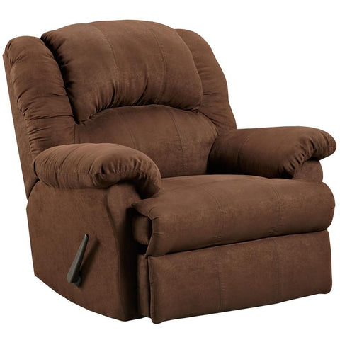 Flash Furniture 2001ARUBACHOCOLATE-GG Exceptional Designs Aruba Chocolate Microfiber Rocker Recliner - Peazz Furniture
