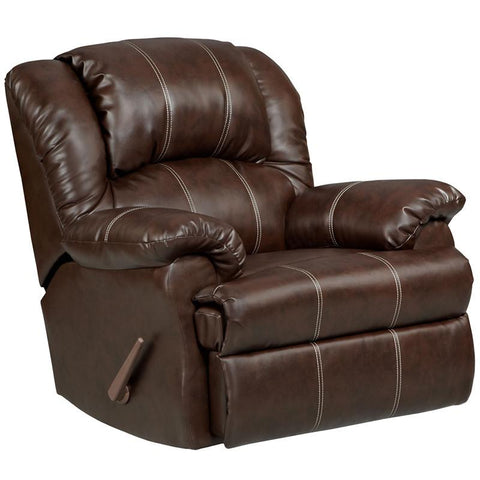 Flash Furniture 2001BRANDONBROWN-GG Exceptional Designs Brandon Brown Leather Rocker Recliner - Peazz Furniture