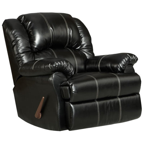 Flash Furniture 2001TAOSBLACK-GG Exceptional Designs Taos Black Leather Rocker Recliner - Peazz Furniture