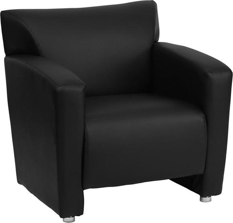 Flash Furniture 222-1-BK-GG HERCULES Majesty Series Black Leather Chair - Peazz Furniture