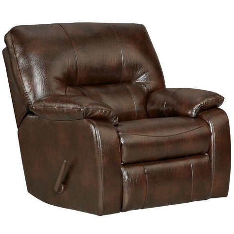 Flash Furniture 2330CANYONCHOCOLATE-GG Exceptional Designs Canyon Chocolate Leather Chaise Rocker Recliner - Peazz Furniture