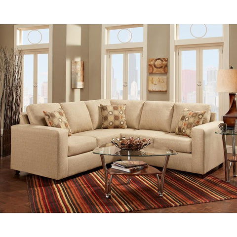 Flash Furniture 3850SECVIVIDBEIGE-GG Exceptional Designs Vivid Beige Fabric Sectional - Peazz Furniture