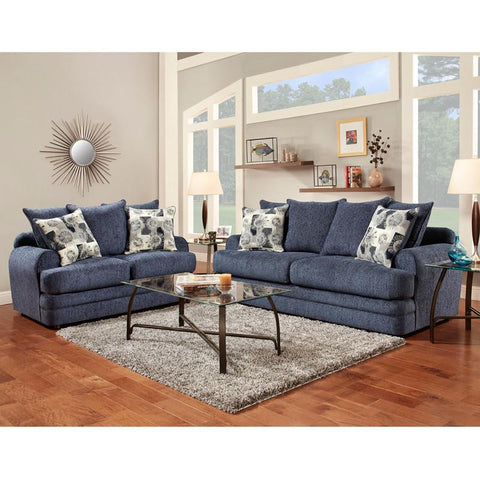 Flash Furniture 4650CALIBERNAVY-SET-GG Exceptional Designs Living Room Set in Caliber Navy Chenille - Peazz Furniture