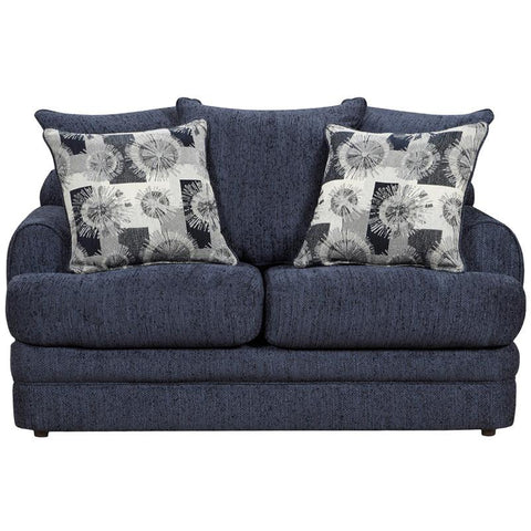 Flash Furniture 4652CALIBERNAVY-GG Exceptional Designs Caliber Navy Chenille Loveseat - Peazz Furniture