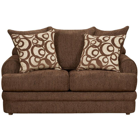Flash Furniture 4652CALIBERWALNUT-GG Exceptional Designs Caliber Walnut Chenille Loveseat - Peazz Furniture