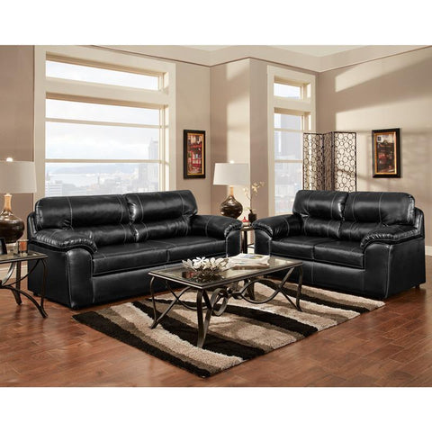 Flash Furniture 4900TAOSBLACK-SET-GG Exceptional Designs Living Room Set in Taos Black Leather - Peazz Furniture