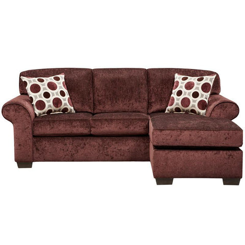 Flash Furniture 5303PRISMELDERBERRY-SOFCH-GG Exceptional Designs Prism Elderberry Microfiber Sofa Chaise - Peazz Furniture