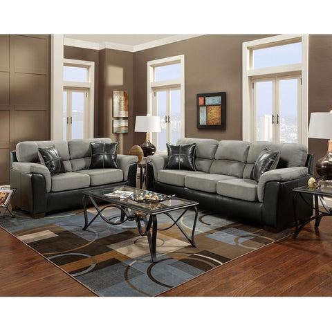 Flash Furniture 6000LAREDOGRAPHITE-SET-GG Exceptional Designs Living Room Set in Laredo Graphite Microfiber - Peazz Furniture