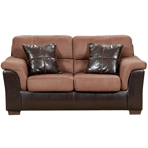 Flash Furniture 6202LAREDOCHOCOLATE-GG Exceptional Designs Laredo Chocolate Microfiber Loveseat - Peazz Furniture