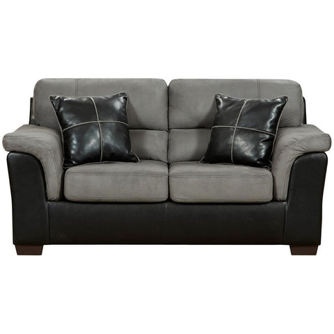 Flash Furniture 6202LAREDOGRAPHITE-GG Exceptional Designs Laredo Graphite Microfiber Loveseat - Peazz Furniture