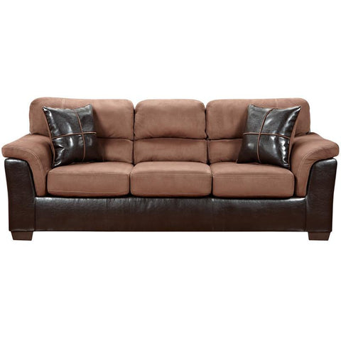 Flash Furniture 6203LAREDOCHOCOLATE-GG Exceptional Designs Laredo Chocolate Microfiber Sofa - Peazz Furniture