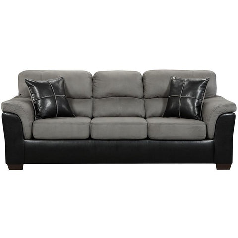 Flash Furniture 6203LAREDOGRAPHITE-GG Exceptional Designs Laredo Graphite Microfiber Sofa - Peazz Furniture