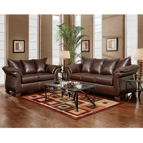 Flash Furniture 6700TAOSMAHOGANY-SET-GG Exceptional Designs Living Room Set in Taos Mahogany Leather - Peazz Furniture