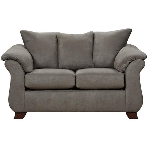 Flash Furniture 6702SENSATIONSGREY-GG Exceptional Designs Sensations Grey Microfiber Loveseat - Peazz Furniture
