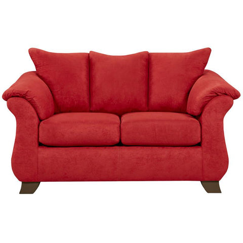Flash Furniture 6702SENSATIONSREDBRICK-GG Exceptional Designs Sensations Red Brick Microfiber Loveseat - Peazz Furniture