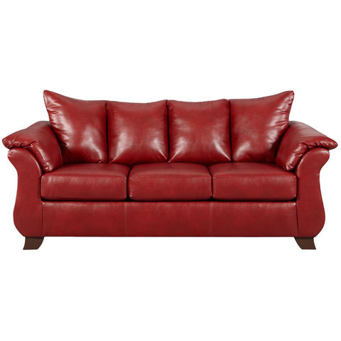 Flash Furniture 6703SIERRARED-GG Exceptional Designs Sierra Red Leather Sofa - Peazz Furniture