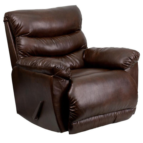 Flash Furniture AM-9030-5121-GG Contemporary Tonto Espresso Bonded Leather Rocker Recliner - Peazz Furniture