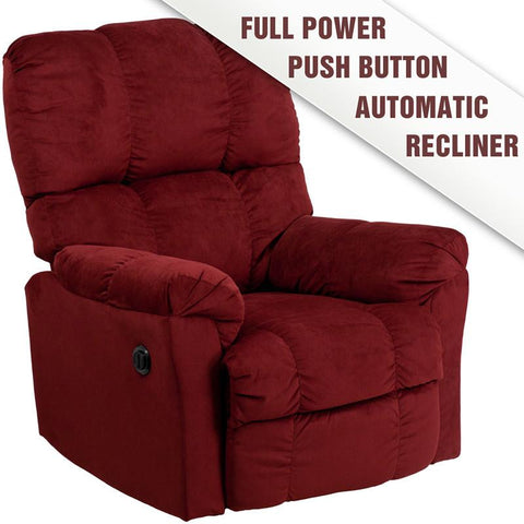 Flash Furniture AM-P9320-4170-GG Contemporary Top Hat Berry Microfiber Power Recliner - Peazz Furniture
