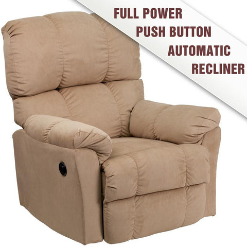 Flash Furniture AM-P9320-4172-GG Contemporary Top Hat Coffee Microfiber Power Recliner - Peazz Furniture