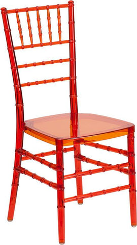 Flash Furniture BH-CRIM-CRYSTAL-GG Flash Elegance Crystal Crimson Stacking Chiavari Chair - Peazz Furniture