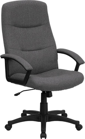 High Back Gray Fabric Executive Swivel Office Chair BT-134A-GY-GG by Flash Furniture - Peazz Furniture