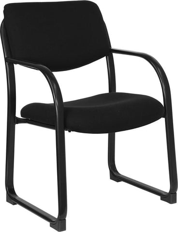 Black Fabric Executive Side Chair with Sled Base BT-508-BK-GG by Flash Furniture - Peazz Furniture