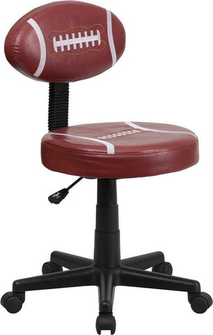 Football Task Chair BT-6181-FOOT-GG by Flash Furniture - Peazz Furniture