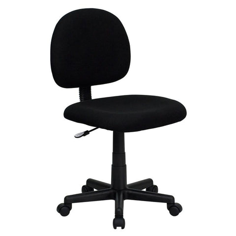Mid-Back Ergonomic Black Fabric Task Chair BT-660-BK-GG by Flash Furniture - Peazz Furniture