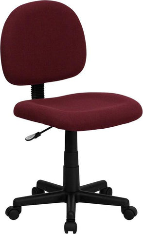 Mid-Back Ergonomic Burgundy Fabric Task Chair BT-660-BY-GG by Flash Furniture - Peazz Furniture