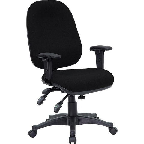 Mid-Back Multi-Functional Black Fabric Swivel Computer Chair BT-662-BK-GG by Flash Furniture - Peazz Furniture
