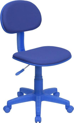 Blue Fabric Ergonomic Task Chair BT-698-BLUE-GG by Flash Furniture - Peazz Furniture