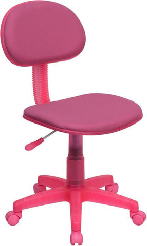 Pink Fabric Ergonomic Task Chair BT-698-PINK-GG by Flash Furniture - Peazz Furniture