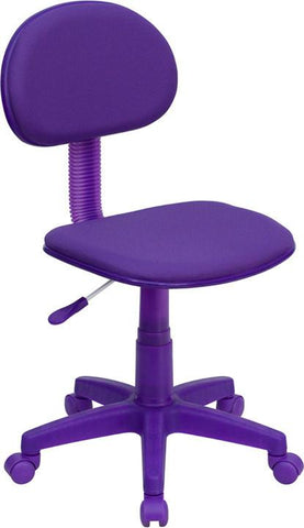 Purple Fabric Ergonomic Task Chair BT-698-PURPLE-GG by Flash Furniture - Peazz Furniture