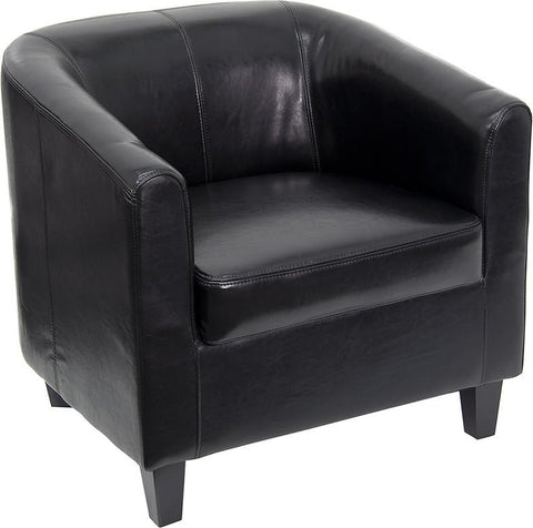 Black Leather Office Guest Chair / Reception Chair BT-873-BK-GG by Flash Furniture - Peazz Furniture