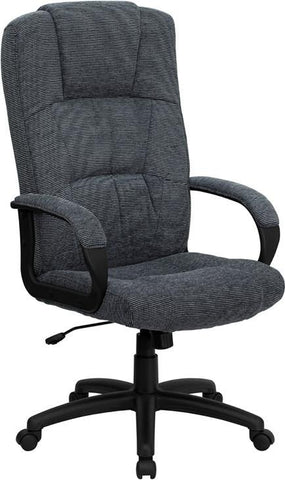 High Back Gray Fabric Executive Office Chair BT-9022-BK-GG by Flash Furniture - Peazz Furniture