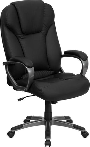High Back Black Leather Executive Office Chair BT-9066-BK-GG by Flash Furniture - Peazz Furniture