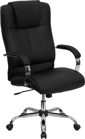 High Back Black Leather Executive Office Chair BT-9080-BK-GG by Flash Furniture - Peazz Furniture