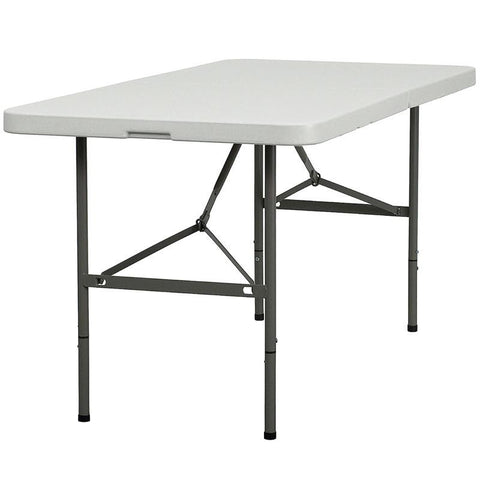 30''W x 60''L Plastic Bi-Fold Folding Table DAD-YCZ-152Z-GG by Flash Furniture - Peazz Furniture