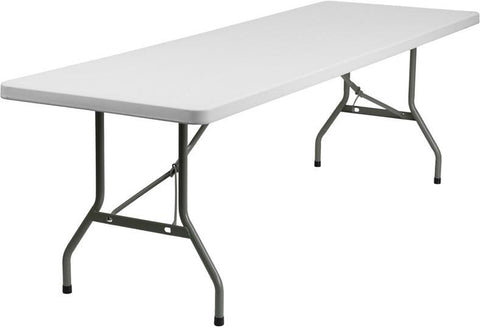 Flash Furniture DAD-YCZ-244-GW-GG 30''W x 96''L Plastic Folding Table - Peazz Furniture