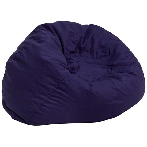Flash Furniture DG-BEAN-LARGE-SOLID-BL-GG Oversized Solid Navy Blue Bean Bag Chair - Peazz Furniture