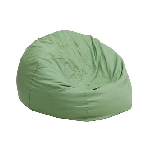 Flash Furniture DG-BEAN-SMALL-SOLID-GRN-GG Small Solid Green Kids Bean Bag Chair - Peazz Furniture