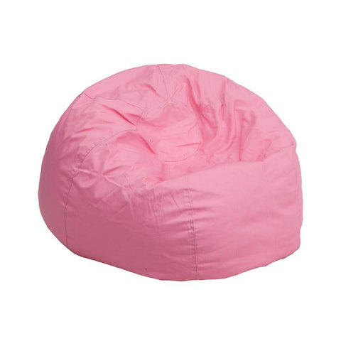 Flash Furniture DG-BEAN-SMALL-SOLID-PK-GG Small Solid Light Pink Kids Bean Bag Chair - Peazz Furniture