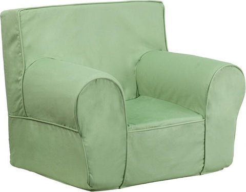 Flash Furniture DG-CH-KID-SOLID-GRN-GG Small Solid Green Kids Chair - Peazz Furniture