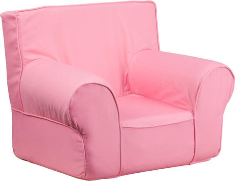 Flash Furniture DG-CH-KID-SOLID-PK-GG Small Solid Light Pink Kids Chair - Peazz Furniture