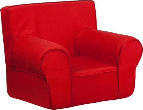 Flash Furniture DG-CH-KID-SOLID-RED-GG Small Solid Red Kids Chair - Peazz Furniture