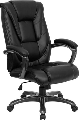 High Back Black Leather Executive Office Chair GO-7194B-BK-GG by Flash Furniture - Peazz Furniture