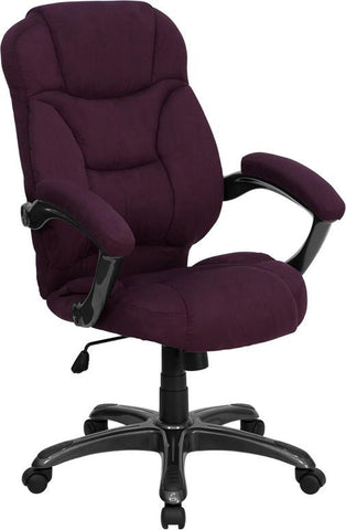 High Back Grape Microfiber Upholstered Contemporary Office Chair GO-725-GRPE-GG by Flash Furniture - Peazz Furniture