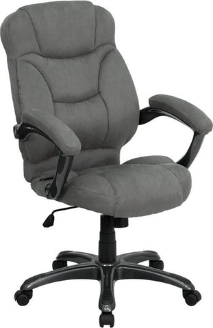 High Back Gray Microfiber Upholstered Contemporary Office Chair GO-725-GY-GG by Flash Furniture - Peazz Furniture
